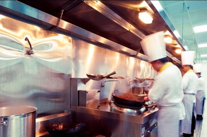 chef in commercial kitchen